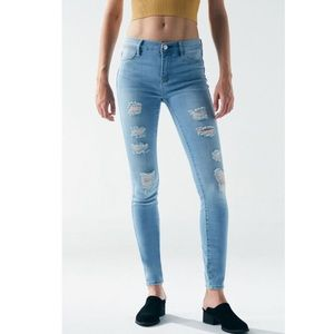 PacSun Mae Blue Perfect Fit Jeggings